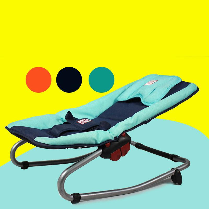 Suitable &Safe Baby Cute Bouncers Infant Appease Rocking Chair Bebe Chairs Three-Point Seat Belts Free Drop Shipping
