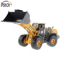 Metal Alloy Diecast Toy Bulldozer Truck Model 1 50 4 Wheel Large Liftfork Engineering Truck