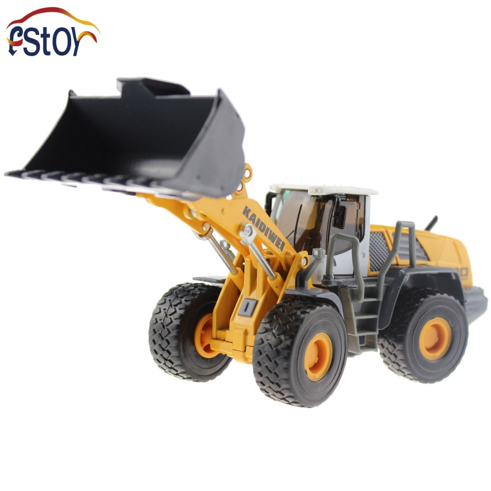 Alloy Diecast Shovel Loader Toy Bulldozer Truck Model 1:50 4 Wheel large Liftfork Engineering Truck Collection Toys first gear 50 3246 komatsu d65px 17 bulldozer w hitch 1 50 nib toy