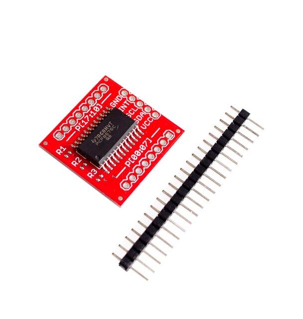 10 PCS/LOT PCF8575 IIC I2C Module de blindage dextension i/o 16 bits SMBus ports i/o nouveau