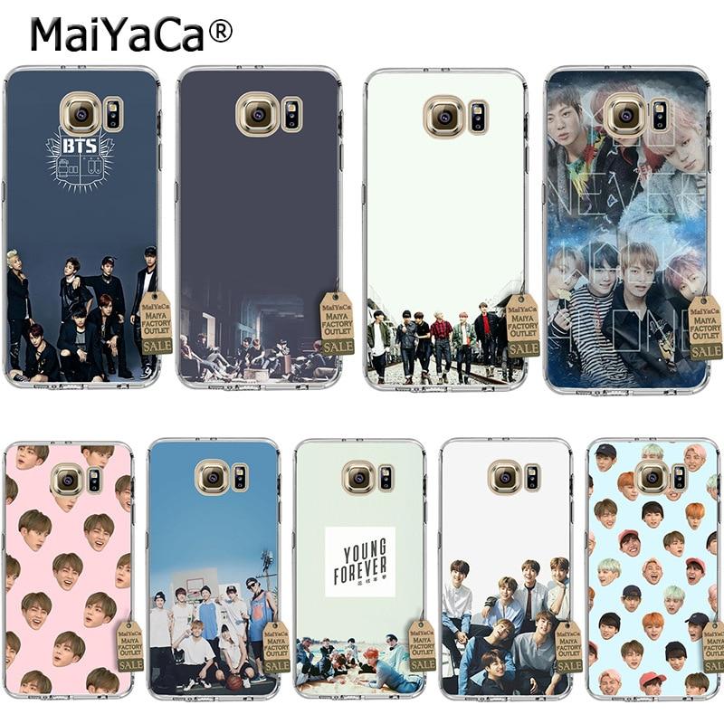 MaiYaCa BTS band Bangtan Boys Coque Shell Phone Case for Samsung S5 S6 S7 Edge S8 Plus S3 S4