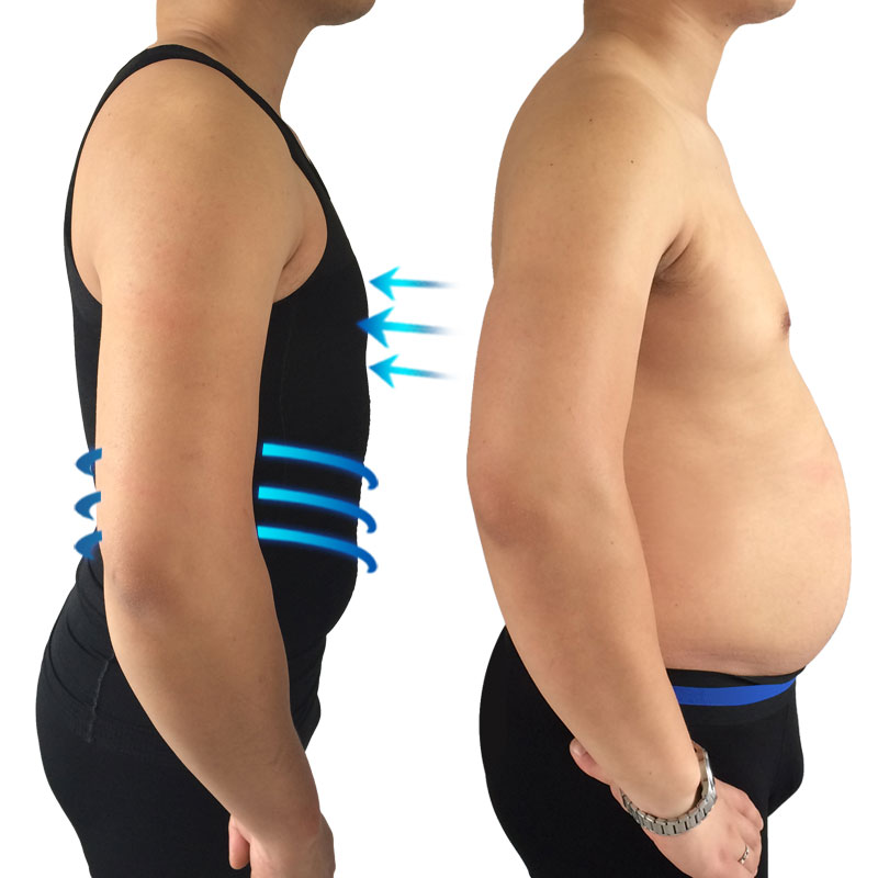 2pcs Waist control corsets lose weight vest slimming shapers for men control belly shaperwear tops