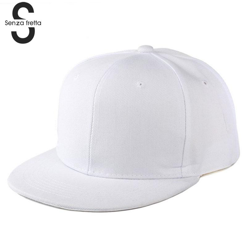 New arrival   Baseball     Cap   Plain Two Tone Snapback Adjustable One Size Hat New Flat Bill Black   Baseball     Cap   D02504
