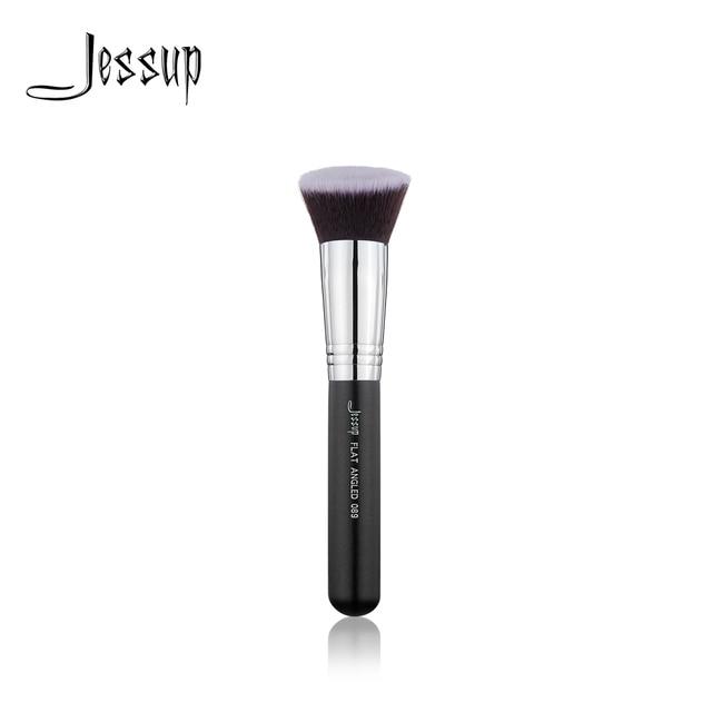 Jessup 1pcs Single Makeup Brush High Quality Professional Fiber Hair Wooden Handle Face Brush FLAT ANGLED-089