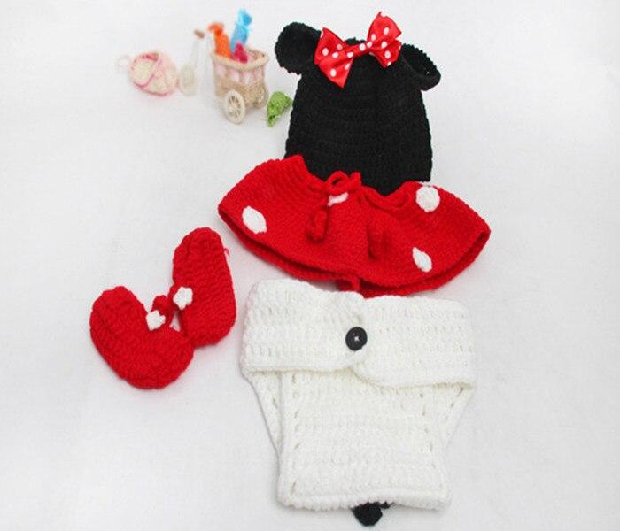 2015 niño recién nacido lindo Minnie Mouse trajes de ganchillo 4 ...