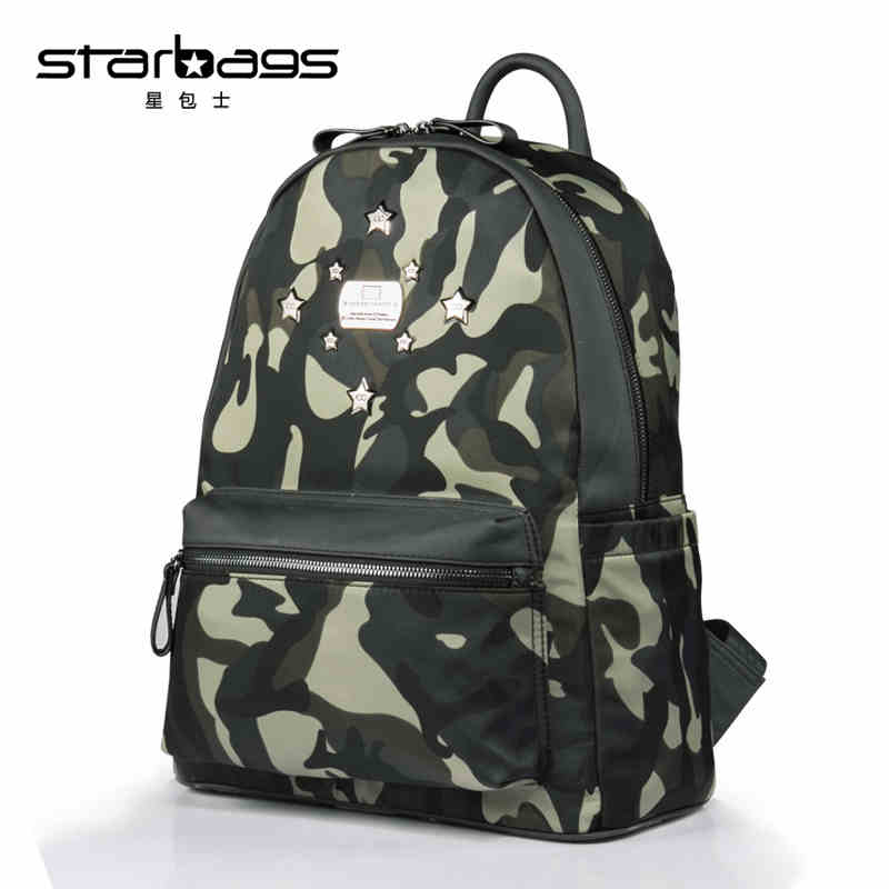 Retro, Backpacks, New, Men, Rivet, Mountaineering