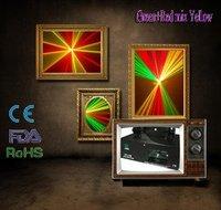6 PC Wholesale 140mW Green+Red Mixde Yellow Laser Light DMX DISCO CLUB DJ Party Light