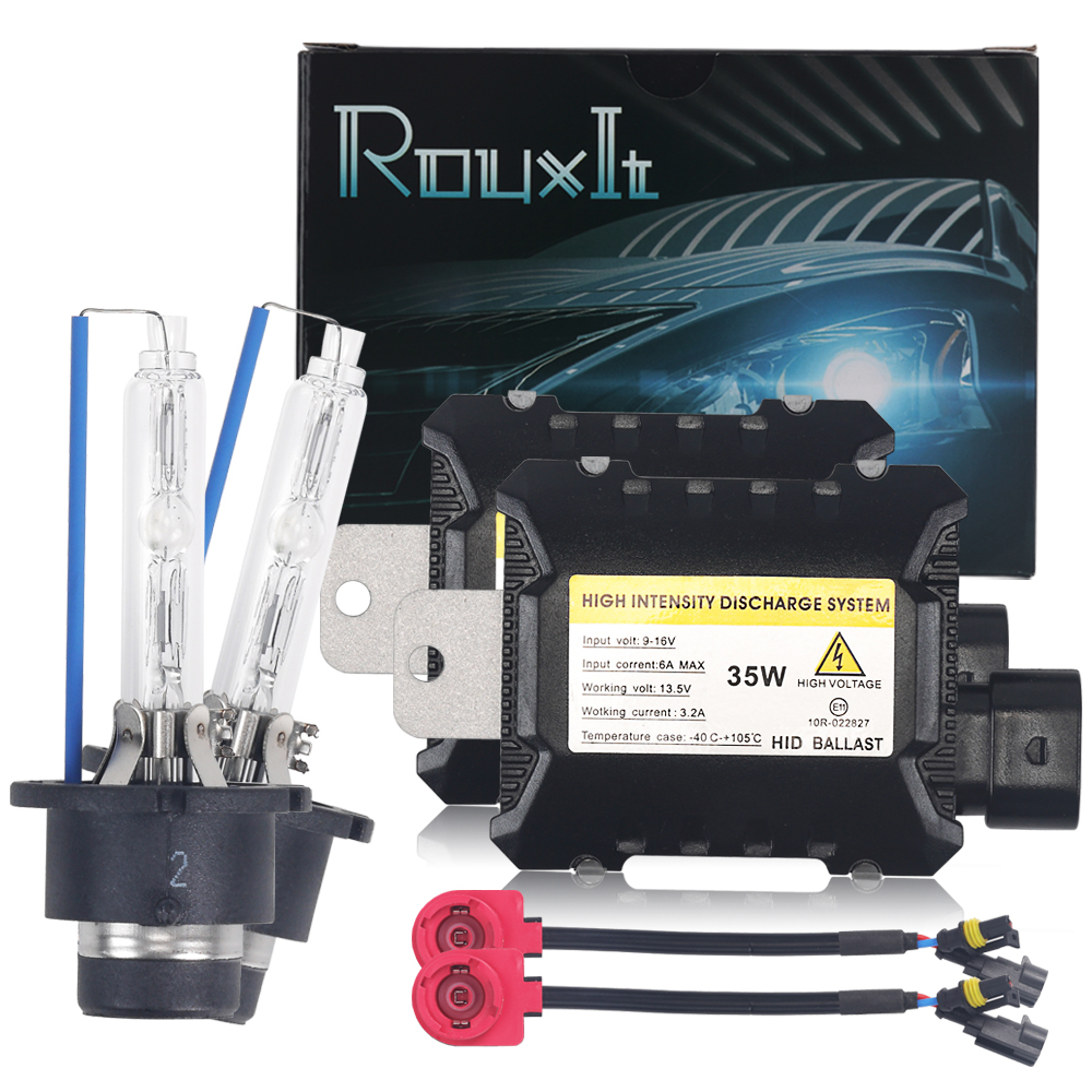 AC 35W D2S Xenon Lamp Kit Car Headlight Bulb HID Ballast 4300k 6000k 8000k Xenon D2S D2R Car Light 12V