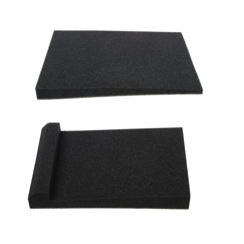 2 Pcs Sponge Studio Monitor Speaker Acoustic Isolation Foam Isolator Pads 30x20x4.5cm Dls HOmeful
