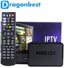Meilleurs produits meilleurs produits 1 pcs Mag250 Linux 2.6.23 Système IPTV Set Top boîte Processeur STi7105 RAM 256 Mb MAG 250 iptv boîte Livraison sh