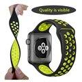 Fohuas marca deportes de silicio correa de la banda para apple watch 38/42mm 1:1 original negro/volt negro/gris colorido correas de reloj iwatch