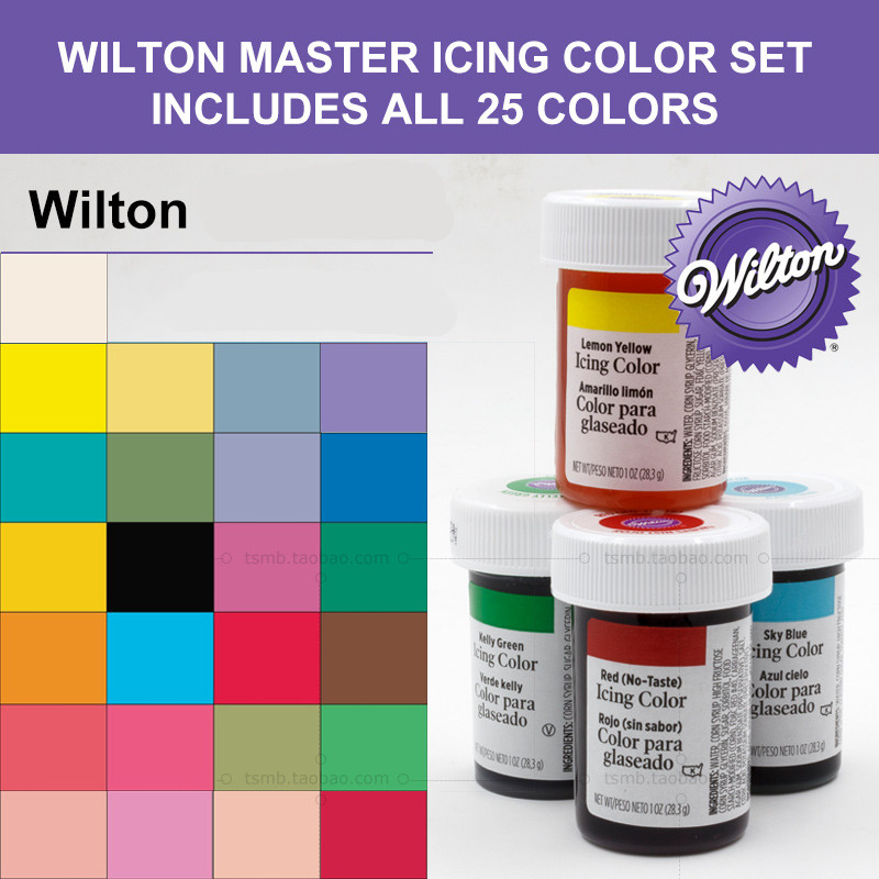 Wilton Icing Colors Colorantes Para Glaseado Fondant Pigment Color ...