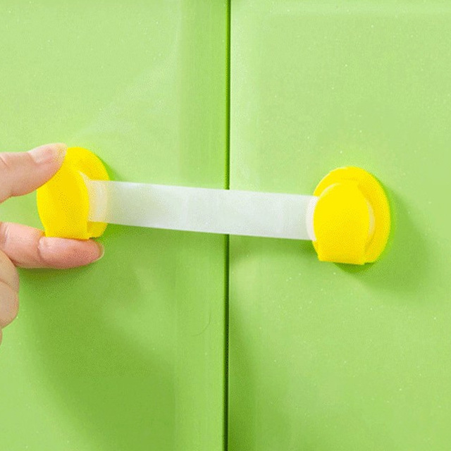 Child Lock Protection Of Children Locking Doors For Children's Safety Kids Safety Plastic Lock For Child Baby Drawer Lock SF008
