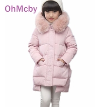 Fashion Thicken Duck Warm Jacket For Girl's Down Jackets Coats Winter Russia Baby Coats Children Outerwears -30degree jackets