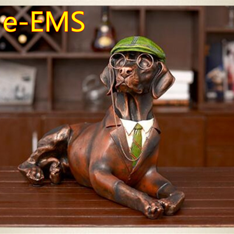 Retro Gentleman Dogs Statue Labrador Retriever Animals Bust Model Resin Craftwork Home Furnishing Articles L2420Retro Gentleman Dogs Statue Labrador Retriever Animals Bust Model Resin Craftwork Home Furnishing Articles L2420