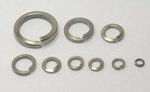 100pcs M2 M2.5 M3 M4 M5 M6 M8 M10 M12 Stainless Steel Spring Washer Split Locking
