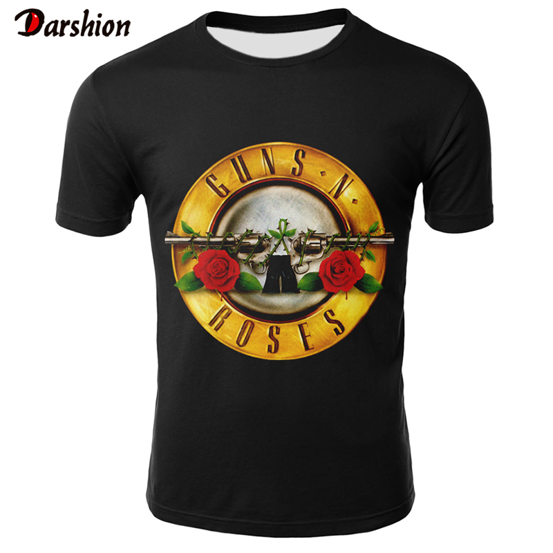 Roses And Guns T Shirt For Men /Women 2019 Cool 3D T Shirt Short Sleeve Men Guns N Roses Top Sale Clothing Male Tshirt Drop Ship