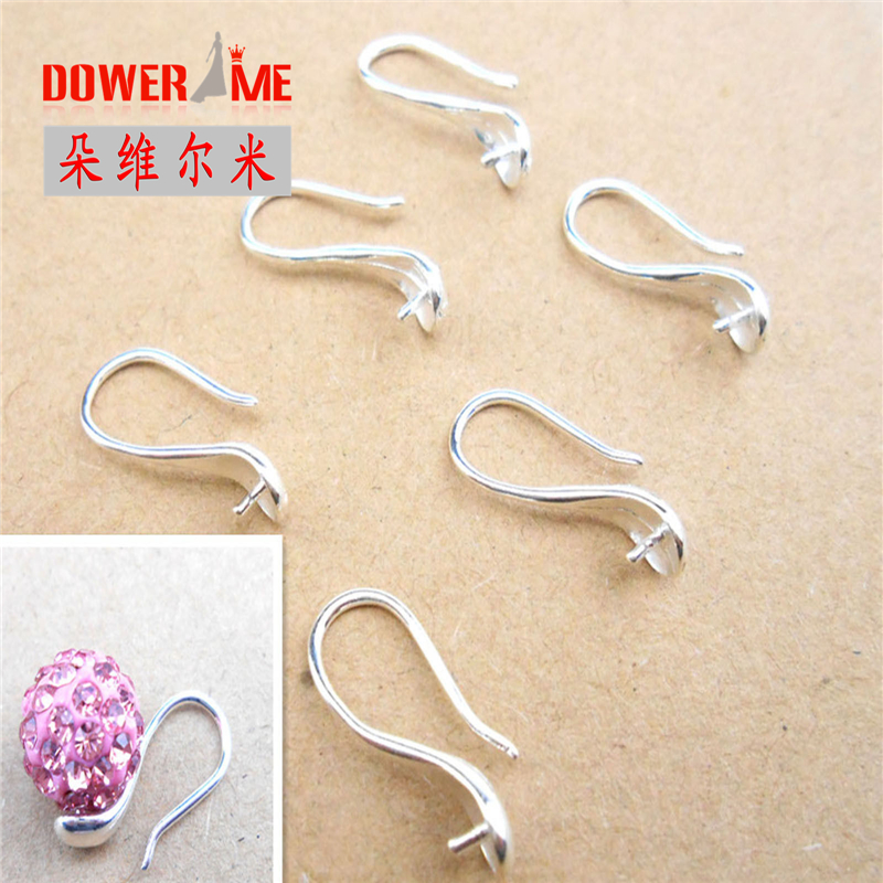 10PCS Fine Jewellery Components Genuine 925 Sterling Silver Handmade Beadings Findings Earring Hooks Leverback Earwire Fittings