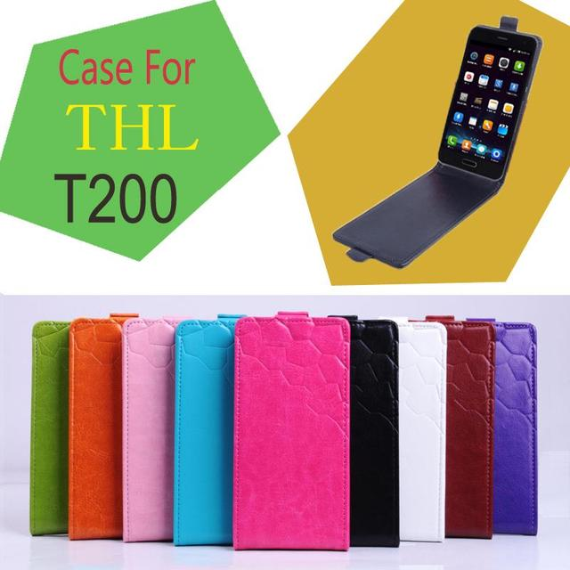 HongBaiwei Vintage Flip Cases for THL T200 Luxury Retro PU Leather Phone Cose Cover 9 Color