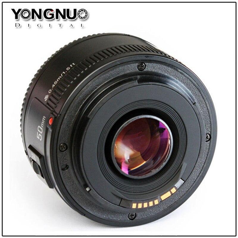 YONGNUO 50mm YN50MM F1.8 grande ouverture auto lentille focale EF AF/MF Pour Canon EOS 600D 550D 70D 700D 750D 1100D 1200D 1300D 200D - 2
