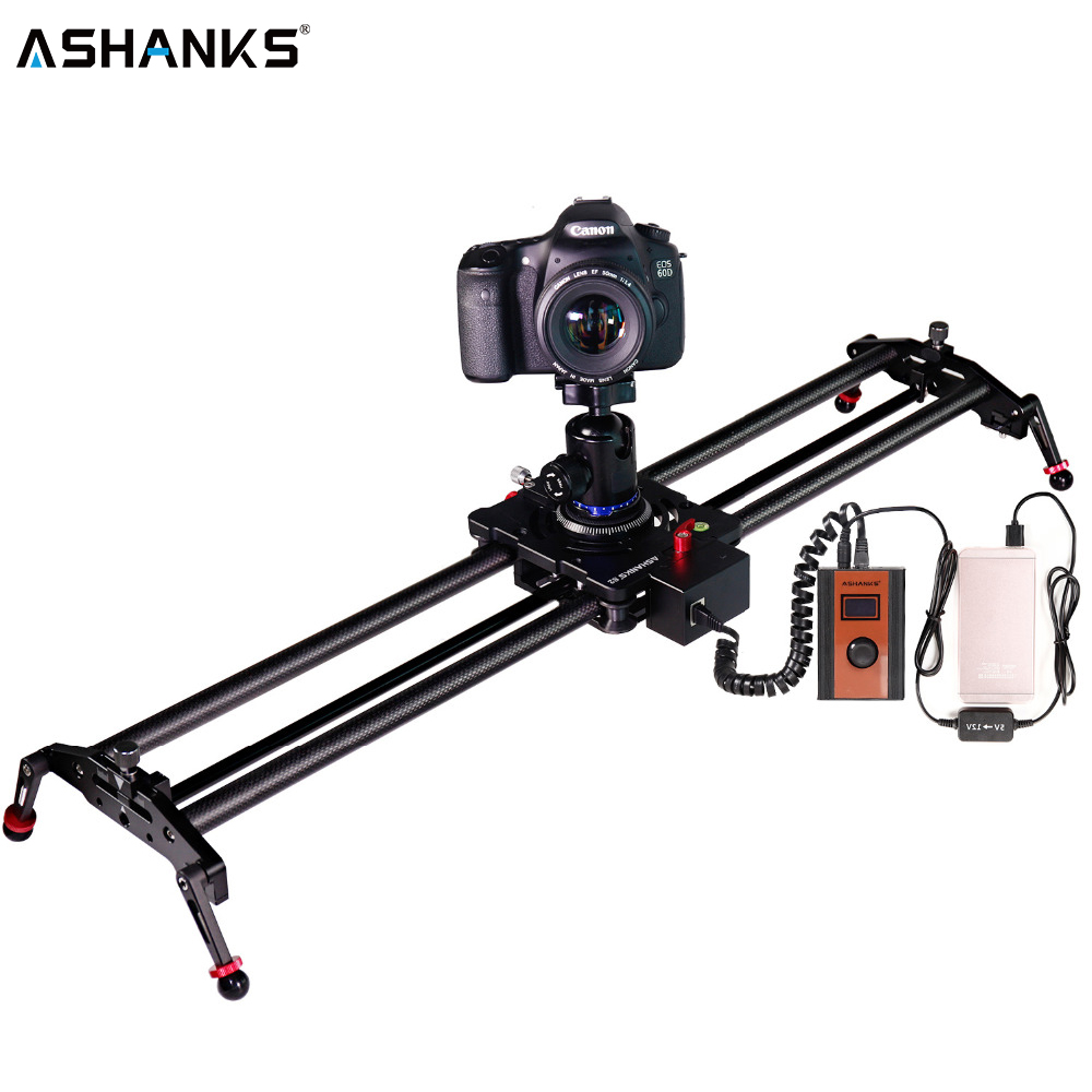 ASHANKS S2 Silent Stepper Motor Motorized Timelapse Carbon Fiber Slider for Electric Control Follow Focus Interviews Shooting