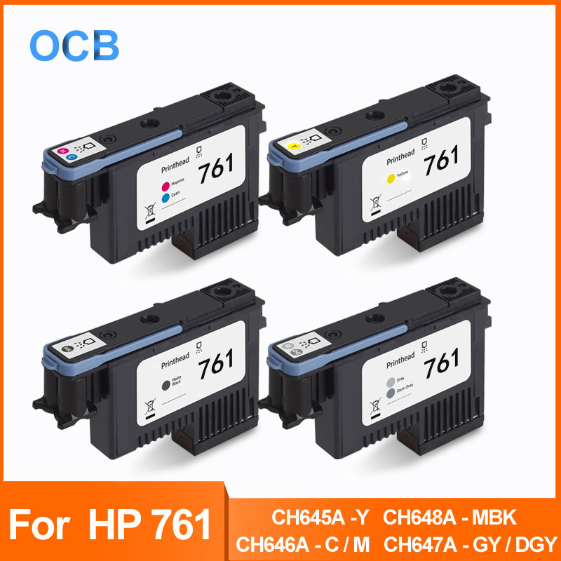 For HP 761 Printhead Print Head For HP Designjet T7100 T7200 Printer CH645A-Y CH646A-C/M CH647A-GY/DGY CH648A-MBK Print Head image