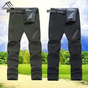 Уличные Мужские Мягкие штаны большого размера, XL-9XL брюки для кемпинга, пешего туризма или альпинизма, водонепроницаемые ветрозащитные дыша...