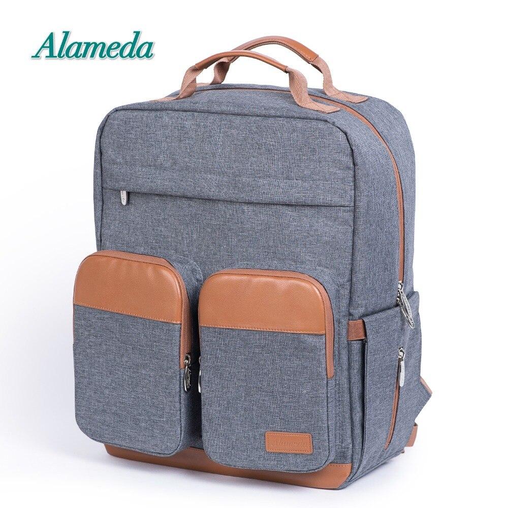Mode sac de maternité sac à langer sac à dos pour les soins de bébé grande capacité voyage sac à couches pour poussette avec matelas à langer