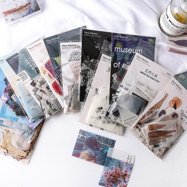 Mohamm 40 unids/lote todo el mundo bala diario Scrapbook diario pegatinas Scrapbooking arte de papel Diy de suministros de oficina