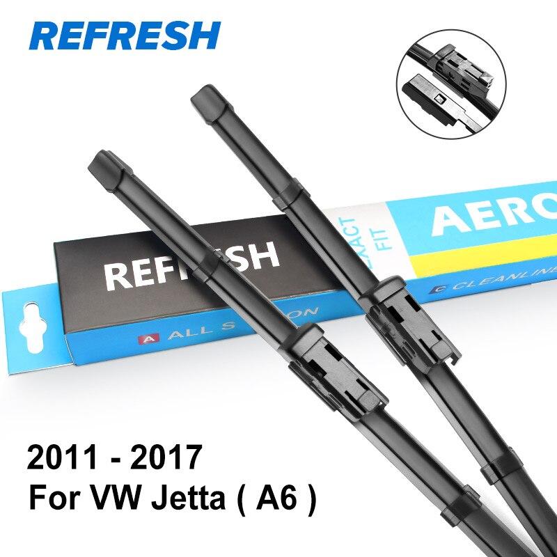 REFRESH Щетки стеклоочистителя для Volkswagen VW Jetta A5 / A6 2005 2006 2007 2008 2009 2010 2011 2012 2013 - Цвет: 2011 - 2017 ( A6 )