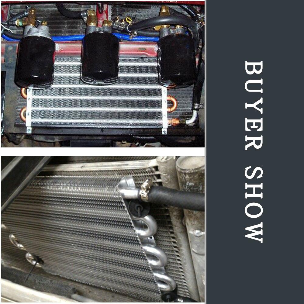 8 Row Aluminum Auto-Manual Radiator Converter//Car Transmission Oil Cooler Kits