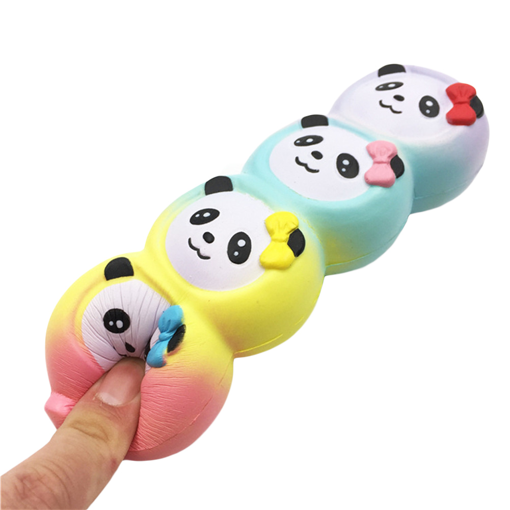Four panda decompression toys slow rebound Stress Stretch Soft Four Cute Panada Scented Slow Rising Toys Gift