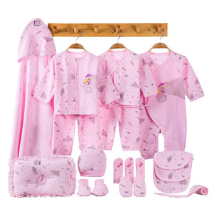 Image 4 - Elephant Newborn Baby Girl Clothes Cotton Print New Born Baby Boy Clothes Infant Clothing Baby Outfit Newborn Set