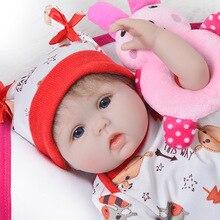 DollMai Nette Silikon Rebron Baby Puppen Neugeborenen Baby 17 zoll Realistische Prinzessin 43 cm Kinderspielkameraden Reborn Mode DIY Spielzeug