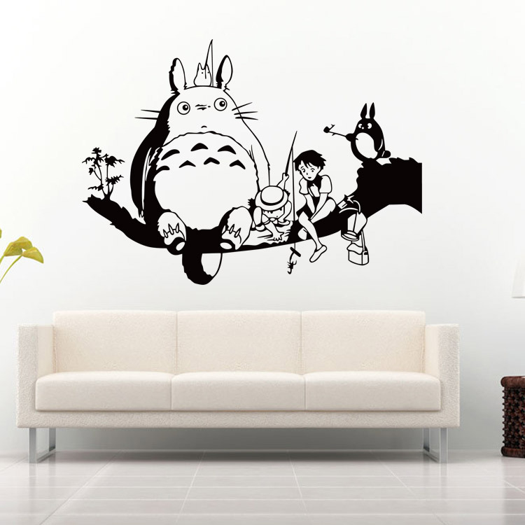 Totoro Wall Decal Sticker Kids Room Wall Decor Art Mural Poster Home Wallpaper Applique Online Game Creative Wall Graphic