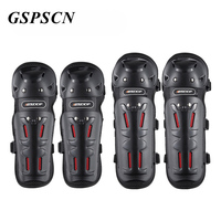 GSPSCN 4pcs  Motorcycle Elbow Knee Pads Protectors Guards Rodilleras Joelheira Motocross Equipment Knee Protective Gear|Motorcycle Protective Kneepad|Automobiles & Motorcycles -