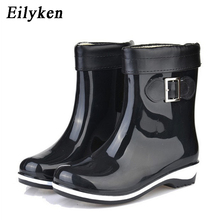 Eilyken Winter Summer Dual Rain Boots For Women Anti-slip Warm Boots Flat Platform Ankle Rainning Shoes Rubber Boots  size 36-41