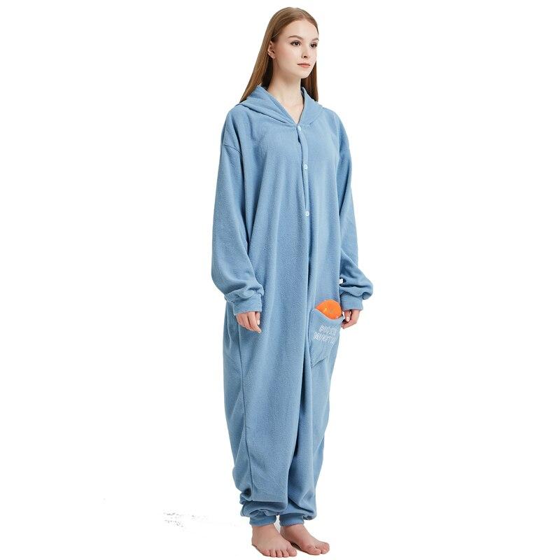 Cookie Monster Kigurumi Cartoon Onesie Jumpsuit Adult Sesame Street Pajamas For Women Sleepwear Pyjamas Cosplay Halloween Party (6)