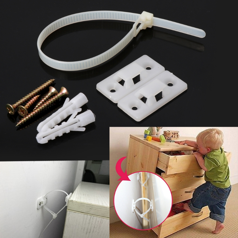 Easily Adjustable Children Safety Anti-Tip Straps Lock Protection For Flat TV And Furnitures Wall Strap Multifuntion Lock