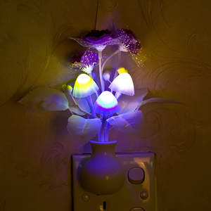 Lamp Mushroom Night-Lighting Illumination Romantic Lilac Home-Art-Decor Colorful Lovely