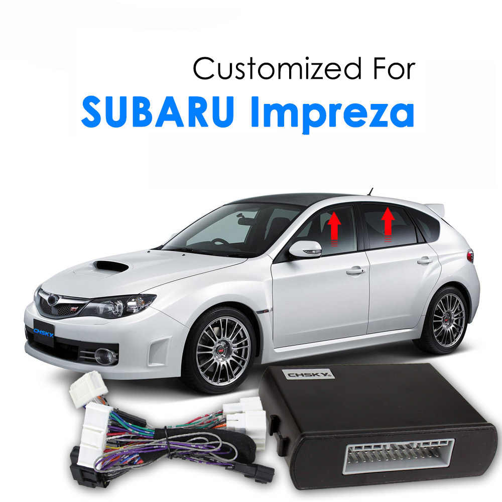 DC 12V Car Power Window Roll Up Closer Special For Subaru Impreza 2009-2012 Auto Four Doors Remotely Close The Windows