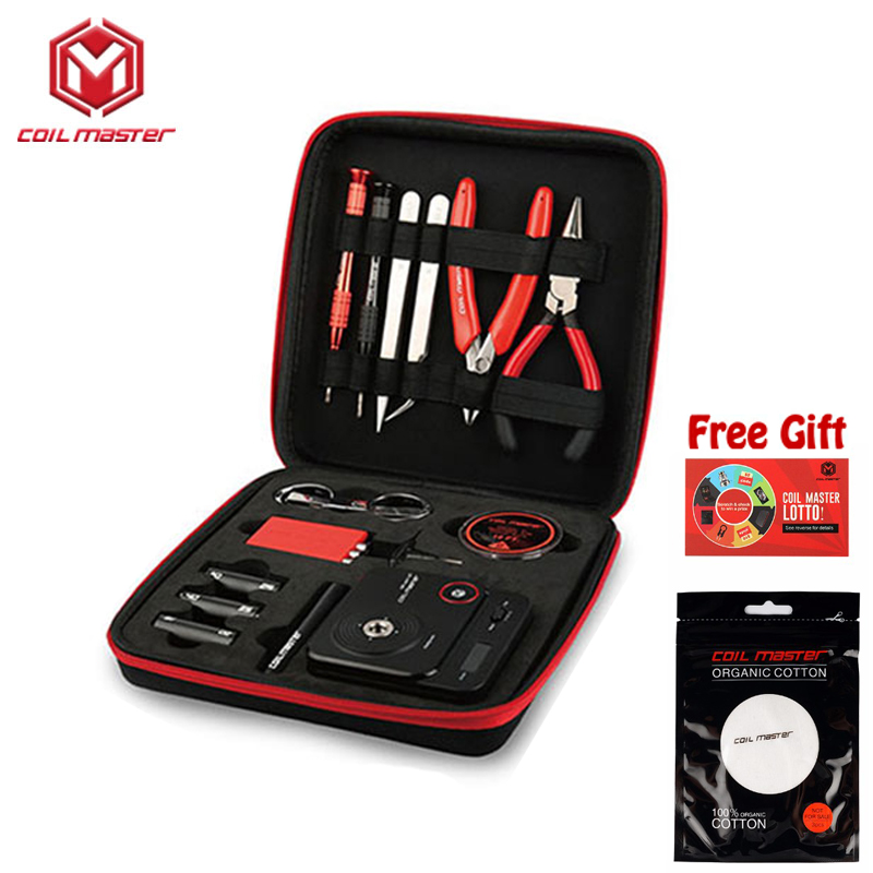 Original Coil Master V3 kit Tool bag E Cigarette Accessories All-in-one DIY Tool Vape device rebuild RDA RDTA RTA Tank Atomizer цены