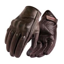 New Motorcycle Gloves Men Touch Screen Leather Electric Bike Glove Cycling Full Finger Motorbike Moto Bike Motocross Luvas Sale