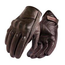 Nieuwe Motorhandschoenen Mannen Touch Screen Lederen Elektrische Fiets Handschoen Fietsen Volledige Vinger Motorbike Moto Bike Motocross Luvas Koop