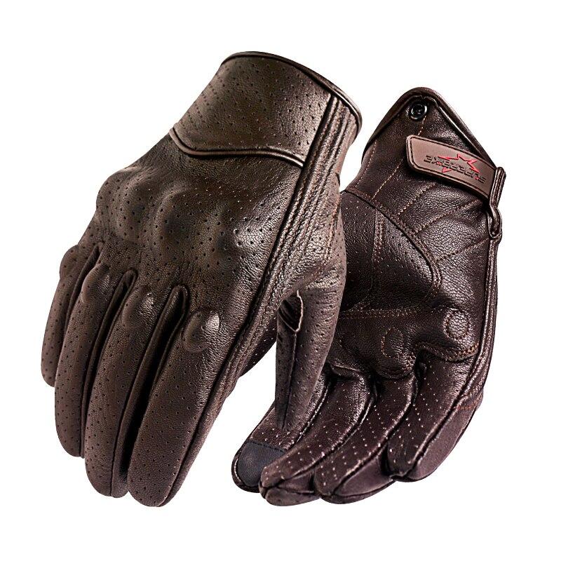 Nouveau Moto gants hommes écran tactile en cuir vélo électrique gant cyclisme doigt complet Moto Moto Moto Motocross Luvas vente