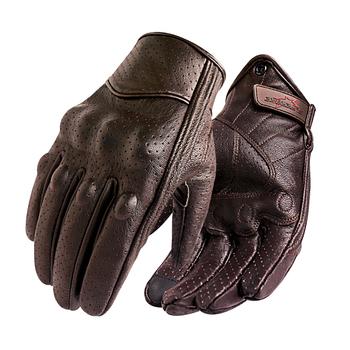 Nowe rękawice motocyklowe mężczyźni ekran dotykowy skóra elektryczna rękawica rowerowa jazda na rowerze pełna Finger motocykl Moto Bike Motocross Luvas sprzedaż tanie i dobre opinie SUPERBIKE Z pełnym palcem Genuine Leather Goatskin Available S M L XL XXL
