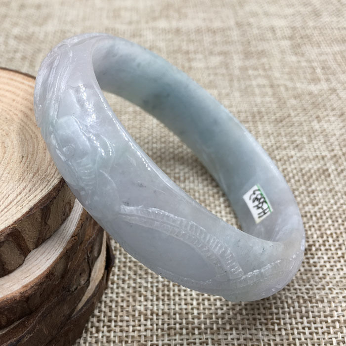Free shipping A-5683 Vintage Chinese Hand-carved Green Jadeite Gems Bracelet Bangle 59mm a computer acc water cooling flow meter pom 2 ways g1 4 port female to female flow meter indicator for pc water cooling system