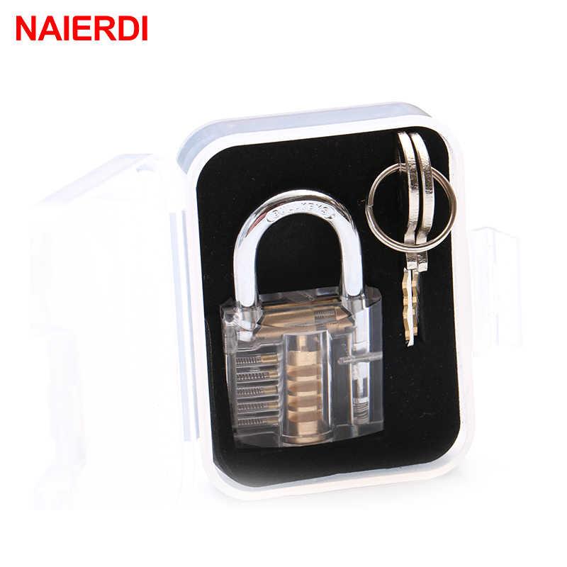 Cerradura transparente NAIERDI, candado con Vista de práctica, cerrojo Visible, cerrojos de entrenamiento para Hardware de muebles