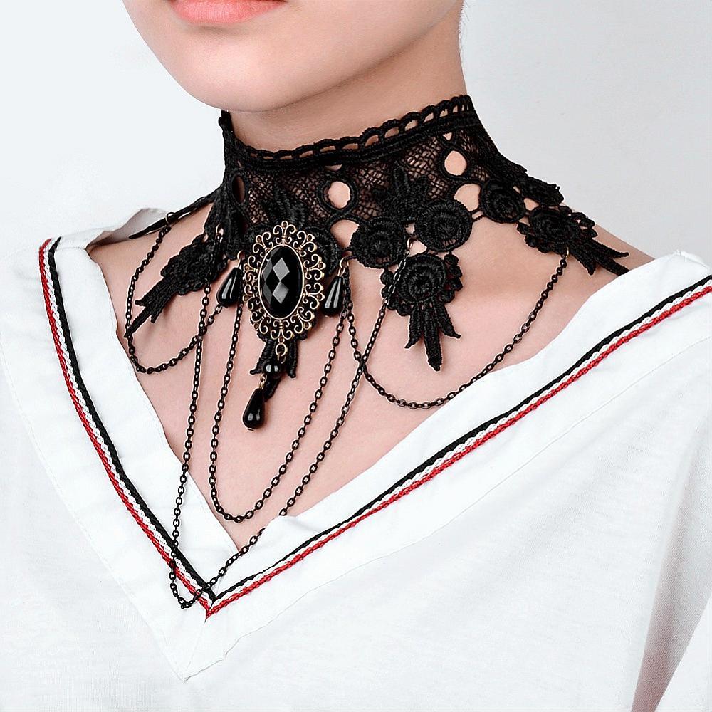 Pandahall 2017 Fashion Gothic Choker Necklace Necklace