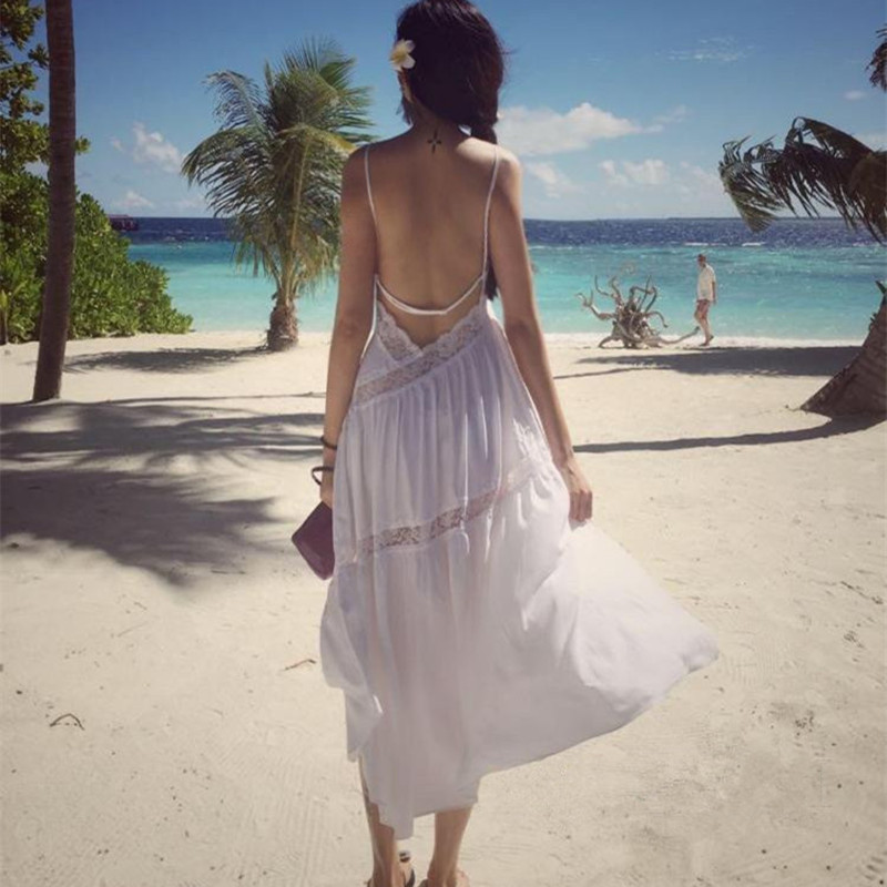 2017 Real Special Offer Beach Resort Thailand Bohemia Dress Skirt Lace In Long White Halter corporate real estate management in tanzania